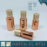 Fles van de Essentiële Olie van het Glas van de schroefdop de Gouden
