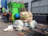 Máquina plástica tecida PP usada do shredder da película do PE dos sacos