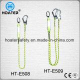 Cuerda 100% de la seguridad del amortiguador de energía de la construcción del poliester para el harness
