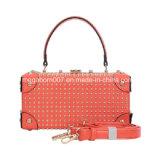 Saco vermelho da caixa das mulheres do fecho dos rebites exóticos (MBNO042019)