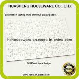 Sublimación de teñido imprimible para adultos Custom Blank 3mm Hardboard Jigsaw Puzzle