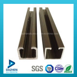 Profil en aluminium en aluminium d'extrusion de longeron de guide de piste de porte avec anodisé