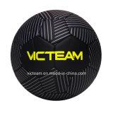 Schwarze kühlste Fußball-Kugel der Beschaffenheits-Entwurfs-Größen-5