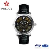 Relógio mecânico luxuoso do OEM da fábrica do relógio para homens