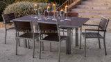 Todo o jardim ao ar livre de Polywood dos tempos que empilha o metal que janta a mobília do restaurante dos restaurantes do pátio das cadeiras