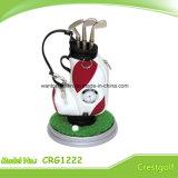 Mini sostenedor de la pluma del bolso de golf del golf del sostenedor promocional de la pluma con el reloj