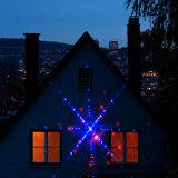 크리스마스 훈장을%s 레이저 광 빨강과 파란 은하 레이저 광