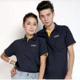 Coutume de coton brodée et T-shirt de polo de mode d'impression