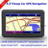 """Soporte incorporado Bluetooth, ISDB-T del flash del RAM 128MB 8GB de la fábrica de la venta 4.3 """" del coche del navegador barato de Portablet Satnavi GPS; Sistema de pesos-en para cámara trasera del estacionamiento; Navegación del GPS"""
