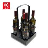 Cremagliera Handmade esclusiva di disegno del cuoio dell'unità di elaborazione del supporto di bottiglia del vino della casella di memoria del vino