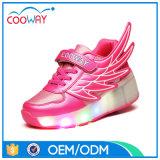 صغيرة [موق] لون قرنفل بنات [وهيلس] أحذية مع جنوحات