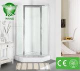 Porta do chuveiro do aço inoxidável, cerco do chuveiro com vidro Tempered, quarto de chuveiro de vidro do banheiro
