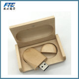 Movimentação Eco-Friendly do flash do USB do bambu feito sob encomenda/vara de madeira do USB