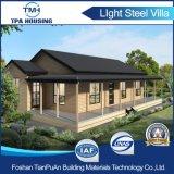 Casa de campo modular de aço luxuosa dos edifícios pré-fabricados para o projeto Home