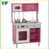 Cocina educativa de madera del juguete del juego del papel para la edad 3-8