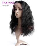 Color completo 100% del 1b de la peluca del cordón del pelo brasileño de la Virgen de la onda de la carrocería