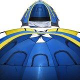 Tente instantanée de famille - 4 grands automatiques de personne sautent vers le haut pour des sports en plein air campant augmentant la plage de course avec la porte Zippered et portant le sac dans le bleu