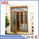 Puerta de oscilación doble de aluminio del diseño de la puerta principal con la ventana