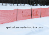 Cerca anaranjada de /Garden de la cerca de seguridad de la cerca 1*50m/de la nieve de la seguridad de las corridas de esquí