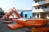 Trasparenza di galleggiamento gonfiabile popolare del trampolino per la piscina