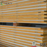 El panel de emparedado de acero de la PU de la alta calidad para la cámara fría