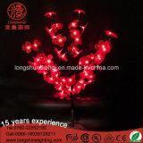 Lumière décorative artificielle d'arbre de bonzaies du plastique DEL avec la fleur en plastique
