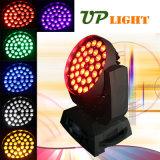 최신 판매 36PCS 18W Rgbwauv 6in1 세척 LED 이동하는 헤드