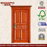 Entrée principale de découpage simple de porte en bois solide de Customerized (XS2-011)