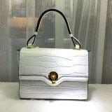 ワニの革Emg5157を持つ優雅な女性のための新しい到着の昇進の方法女性100%の実質の革ハンド・バッグのショルダー・バッグ