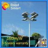 luz de rua solar ao ar livre do diodo emissor de luz da garantia 5years com sensor de movimento