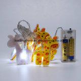 Quirlande électrique décorative de clignotement à piles environnementale de la forme DEL de giraffe pour la pièce du bébé