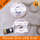 Round Slim Card USB Pendrive como presente de promoção (YT-3108)