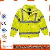 Желтая отражательная высокая куртка безопасности одежды видимости
