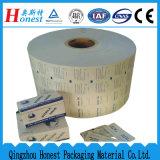 Papel de papel de aluminio en Rolls para la pista del alcohol, el etc.