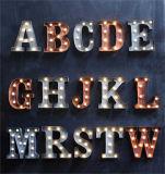 Signes acryliques colorés de lettre de la Manche de qualité extérieure