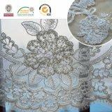 Splendide tissu en dentelle en fleur 3D pour mariage et Lady Dress C10015