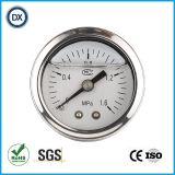 006 indicateurs de pression remplis d'huile liquides avec l'acier inoxydable
