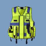 O fato Multi-Pocketed segurança da polícia de trânsito realça a veste reflexiva da visibilidade