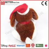 Perro de juguete relleno suave de la felpa del día de la Navidad