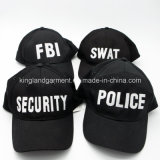 綿のドリルの軍隊の黒Fbiの刺繍の野球帽
