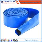 Mangueira azul da entrega da água de irrigação do PVC Layflat de 3 polegadas