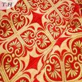 2017明るく赤いジャカード高級なソファーの布(FTH31615)