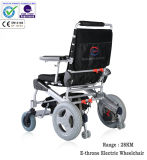 """12"""" doblado Silla de ruedas eléctrica para discapacitados, sin escobillas y de larga duración"""