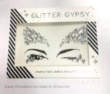Etiqueta engomada cristalina del diamante del tatuaje de la nueva de la llegada 2017 del ojo de la ceja de la etiqueta engomada piel de la cara para DIY (TS-040)