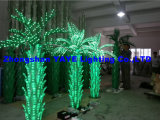 Yaye 18 Hot Sell Green Color LED Palm Tree Light / Outdoor Palm Palm com 2 anos de garantia / Ce / RoHS