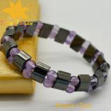 Htb-111black magnétique avec le bracelet de quartz de Rose