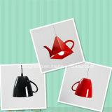 Zeitgenössische fantastische Beleuchtung-Fiberglas-Teekanne-hängende Lampe für Kaffee-System-Dekoration