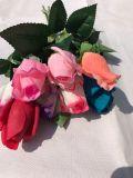 Realer Noten-Latex-blüht künstliche Rosen-Knospe gefälschte Blumen für Hochzeits-Ausgangsdekoration
