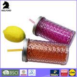 Doppel-wandige Plastiktrommel mit Stroh