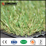 Fácil 20 mm Altura de la instalación del azulejo artificial de la hierba verde